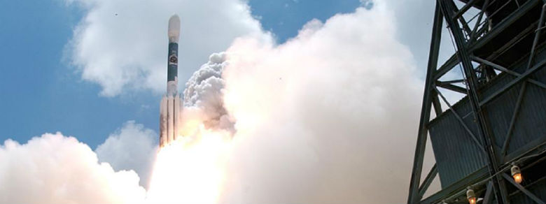 A close-up photo of the Fermi launch.